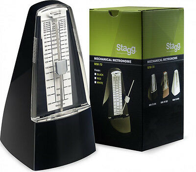 Stagg Mechanical Metronome - MM-70 Black/White/Red - Piano Accessories