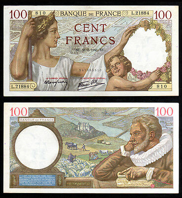 Billet France - 100F Sully - 21.05.1941 - SUP+ - Fay : 26.52