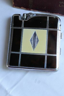 Compact: Ronson LADY-PACT with Lighter,Glass Beveled Mirror & Powder.  1930s.