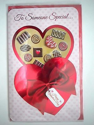 """Luxury Embellished 3D """"to Someone Special"""" Valentine's Day Greeting Card"""