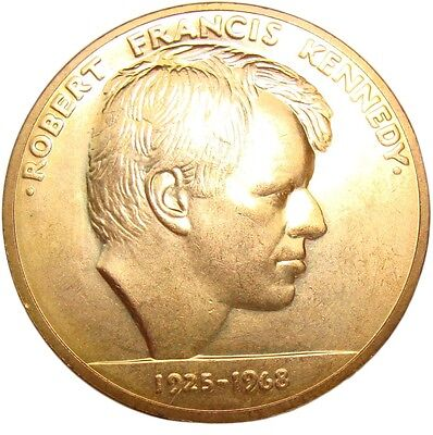 A456) Medaille Robert Francis Kennedy 1925-1963 USA Amerika US America Medal