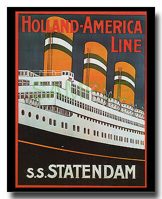 Holland-America Line SS Statendam liner Art Deco repro