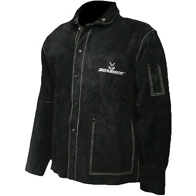 "Caiman Black Boarhide - 30""Jacket Welding-Apparel 2X-Large"
