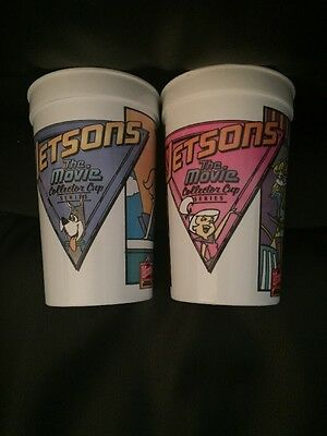 Two Wendy's JETSONS The Movie Collector Cup Series 1990