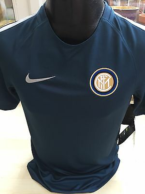 Inter Milan Away Shirt Training Top Nike Size Small FC Internazionale Brand New