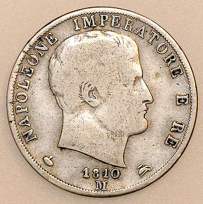 1810M Italy Silver 2 Two Lire Coin