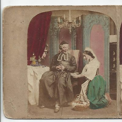 Stereoview Genre Punch's Stereoscopic Sketches Did--you--Ever!!!! London c 1860