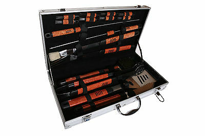 Pushette Professional 18 Piece BBQ Tool Set Silver