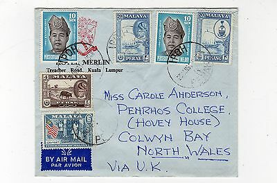 Malaya: 1961 Air Mail Cover To Wales (C24670)