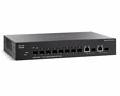 Cisco SG300-10SFP - Switch manageable 10 ports Gigabit - 2 ports Mini-GBIC SFP