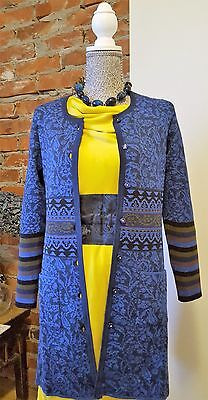 NWT Merino-silk knitted long cardigan by Oleana. Size S