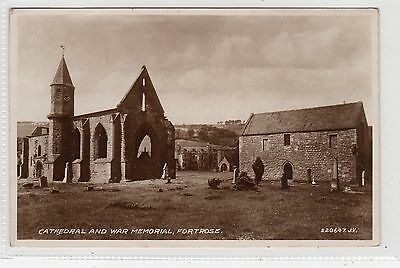 CATHEDRAL AND WAR MEMORIAL, FORTROSE: Ross-shire postcard (C23809)