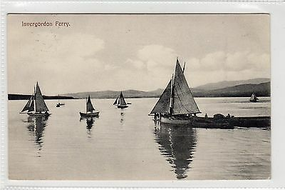 INVERGORDON FERRY: Ross-shire postcard (C23811)