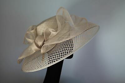 silver grey wide brimmed ladies occasion hat by frank usher new with tags