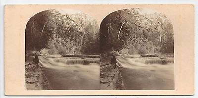 Stereo Stereoview Genre View at the Falls Trenton New York State Amerika ca 1860