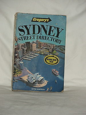 Vintage 1990 GREGORY'S SYDNEY STREET DIRECTORY 55TH EDITION GLOVE BOX SIZE