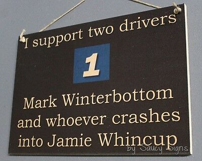 Mark Winterbottom versus Jamie Whincup V8 Supercars Driver Sign Holden Ford