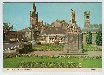 THE WAR MEMORIAL, ALLOA: Clackmannanshire postcard (C23997)