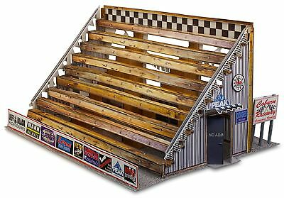 """BK 4302 1:43 Scale """"Bleacher Kit & Hot Dog Stand"""" Photo Real Scale Building Kit"""