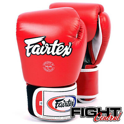 Fairtex 3 Tone Boxing Gloves - Red - FREE P&P - Muay Thai, MMA, Boxing