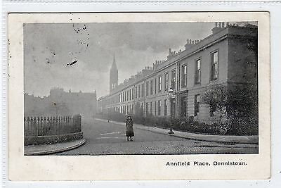 ANNFIELD PLACE, DENNISTOUN: Glasgow postcard (C24406)