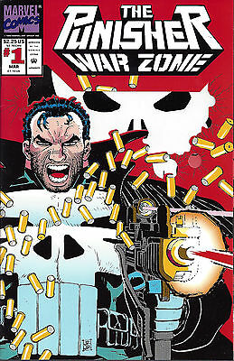 PUNISHER WAR ZONE  #1  Mar 92   Die cut cover