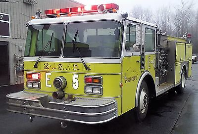 Genuine Spartan 1250 Gpm Pumper Fire Truck / Detroit Diesel 8V71N Engine