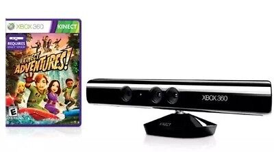 KINECT SENSOR FOR XBOX 360  +Power Supply + Kinect Adventures , FAST DISPATCH
