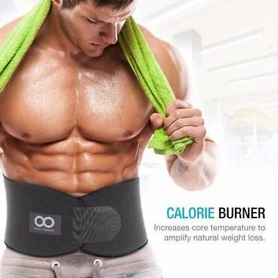 Weight Loss Ab Exercise Belt Waist Trimmer Abdominal Muscle & Back Support