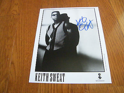 Keith Sweat Autographed 8x10 Photo Hand Signed