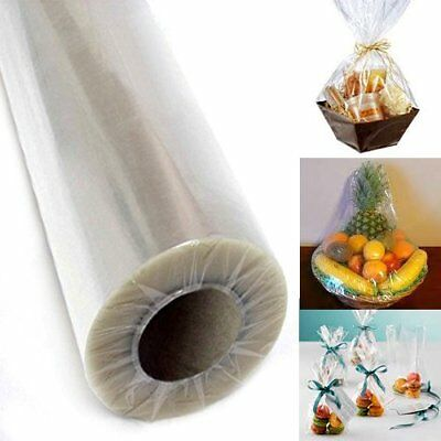 """30"""" Clear Cellophane Wrap Roll Arts Crafts Gift Wrap Food Wrap 100 ft long"""