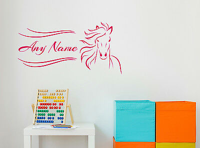 Personalised Wild Horse Wall Decal Sticker Removable Vinyl Decor Art Gift logo