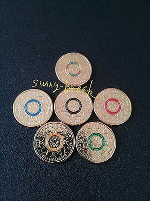 Full set of 2016 $2 coloured coins Olympic and Paralympic (Unc - in stock)