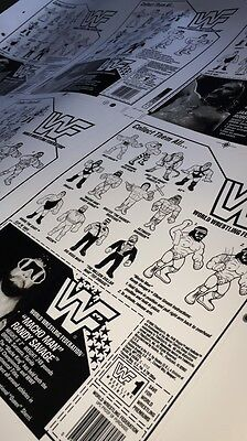 Wwf HASBRO Remastered Proof Sheet Series 1 First 6 Figures Backing