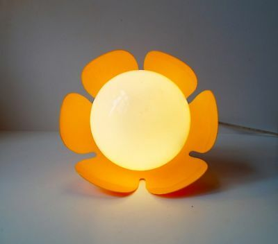 Rare 1970s Sunflower Sconce Flush Mount Danish modern Panton Hammerborg Lyfa era