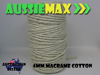 4mm Macrame 100% Natural Cotton 125 Meters