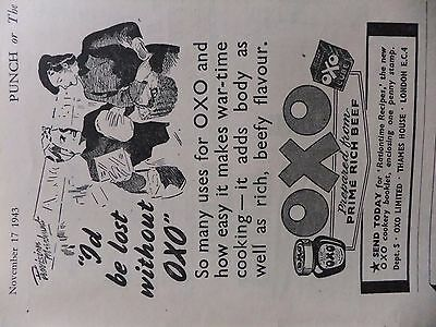 """1943 Advert....oxo..wartime Themed....""""i'd Be Lost Without Oxo""""."""