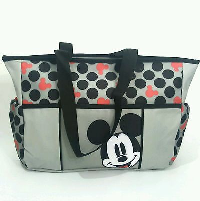 New Disney Baby Mickey Mouse Large Canvas Diaper Bag