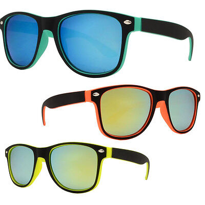 Kids Toddler Boys Girls Vintage Retro Classic Sunglasses Shade Black Yellow