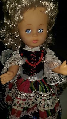 """Vintage Rubber Doll Polish Costume  Made In Poland - 18"""""""