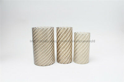 Spiral Cylinder Pillar Plastic Candle Mold Soap Molds DIY Tools Chocolate PVC