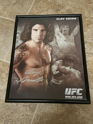 Clay Guida Signed UFC 8.5 photo Picture Autograph with frame