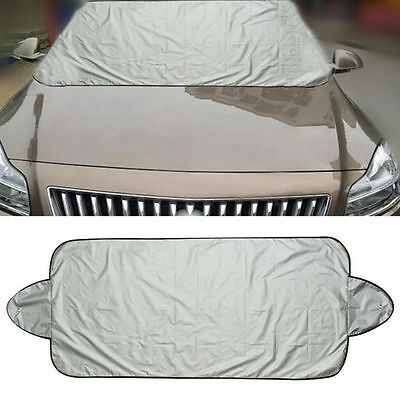 Car Folding Windshield Protect Cover Snow Ice Frost Protector Sun Shield Silver
