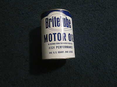 Vintage Britelube ,Paper  Oil Can Collector Bank 1QT NOS 1950's 1960's