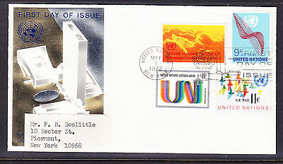 United Nations 1972 - Airmails  First Day Cover addressed
