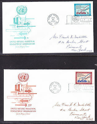 """United Nations """"Artmaster"""" 1968 - Industrial Development TWO  FDC  addressed"""