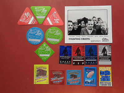 COUNTING CROWS,promo photo,15 different Backstage passes,RARE Originals,