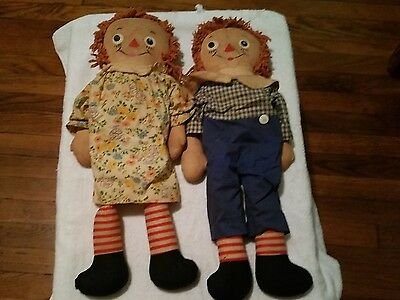 Vintage AUTHENTIC Raggedy Ann & Andy Georgene Novelty Co  1920-1947
