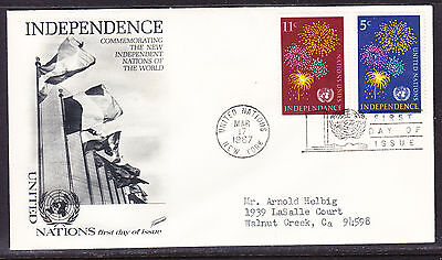"""United Nations """"Fleetwood"""" 1967 - Independence Nations First Day Cover addressed"""
