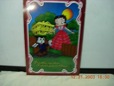 betty boop metal sign frankly my dear I don't give a boop